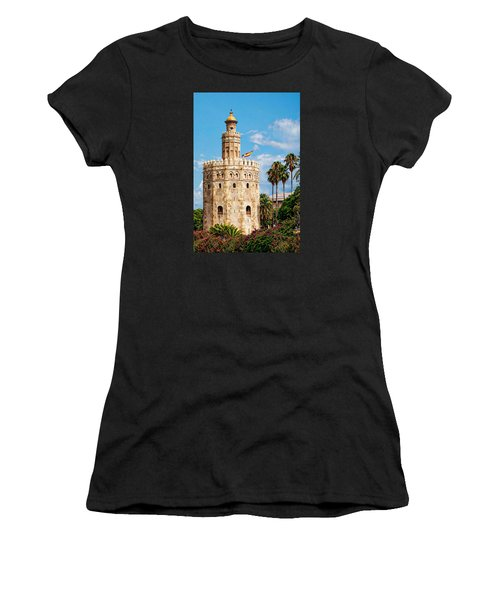 Tower Of Gold Women's T-Shirt (Athletic Fit)