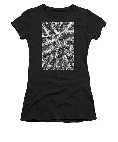 Women's T-Shirt featuring the photograph Towering Pines by Heather Kenward