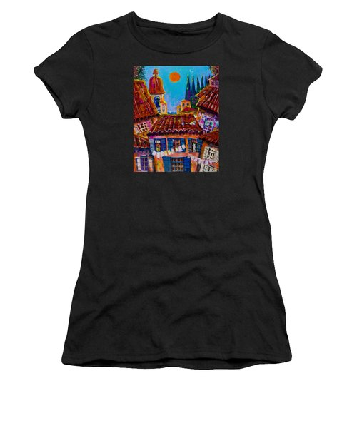 Town By The Sea Women's T-Shirt (Athletic Fit)