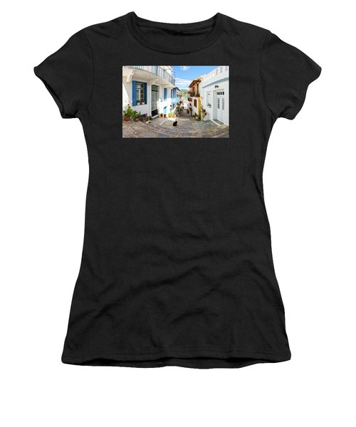 Town Of Skopelos Women's T-Shirt
