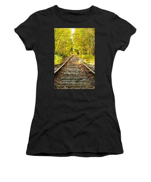 Track To Nowhere Women's T-Shirt (Athletic Fit)