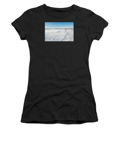 Tracks In The Snow Women's T-Shirt