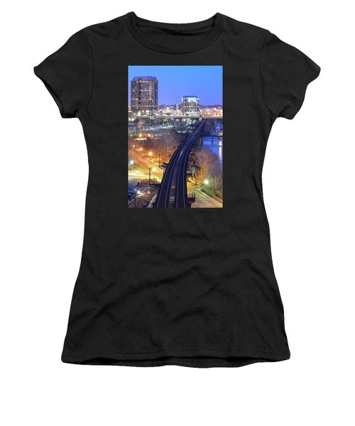 Tracks Into The City Color Women's T-Shirt (Athletic Fit)