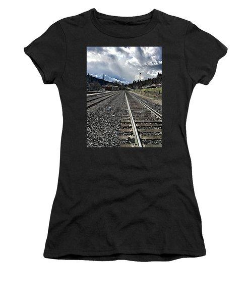 Women's T-Shirt (Junior Cut) featuring the photograph Tracks by JoAnn Lense
