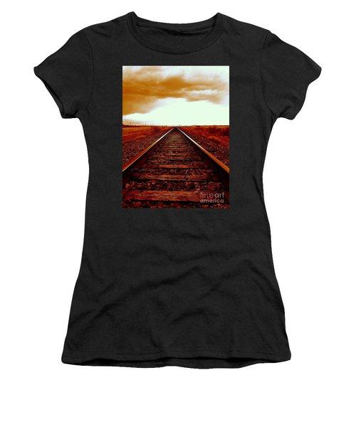 Marfa Texas America Southwest Tracks To California Women's T-Shirt (Athletic Fit)