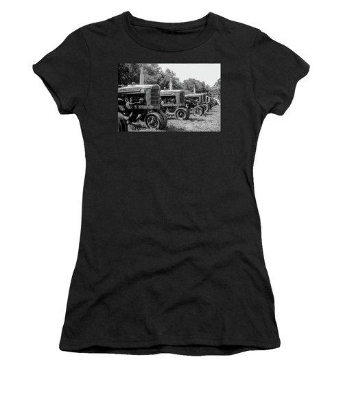 Women's T-Shirt (Junior Cut) featuring the photograph Tractors by Brian Jones