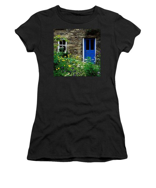 Traditional Cottage, Co Cork Women's T-Shirt (Junior Cut) by The Irish Image Collection