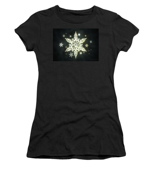 Traditional Sunlight Snowflakes Women's T-Shirt (Athletic Fit)