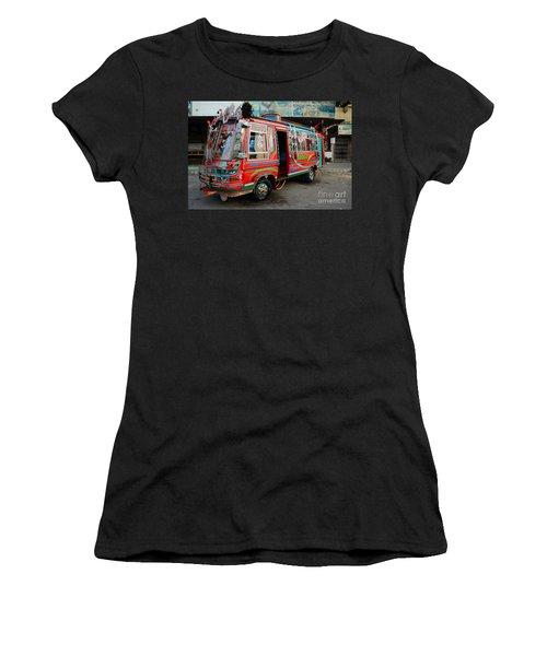 Traditionally Decorated Pakistani Bus Art Karachi Pakistan Women's T-Shirt