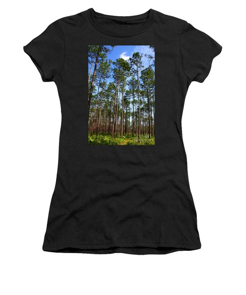 Trail Through The Pine Forest Women's T-Shirt