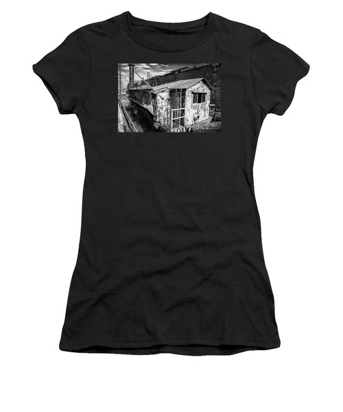 Train 6 In Black And White Women's T-Shirt