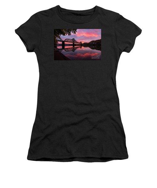 Train Bridge At Sunrise  Women's T-Shirt