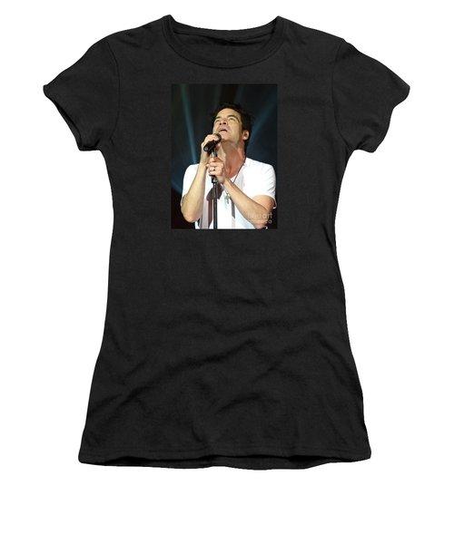 Train's Pat Monahan Women's T-Shirt (Junior Cut) by Cindy Manero