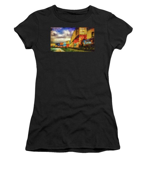 Train Freight Cars Women's T-Shirt (Athletic Fit)