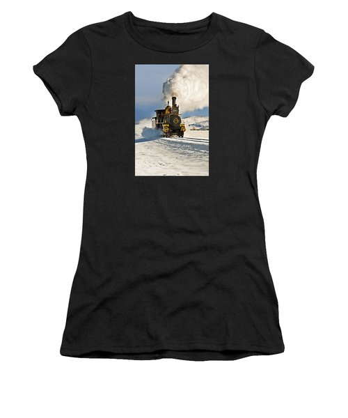 Train In Winter Women's T-Shirt