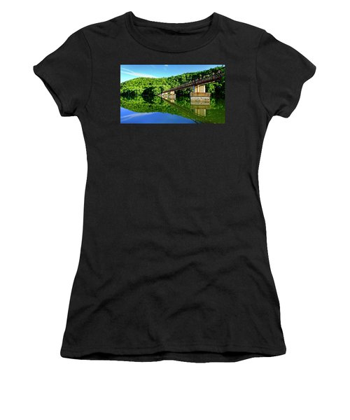Tranquility At The James River Footbridge Women's T-Shirt
