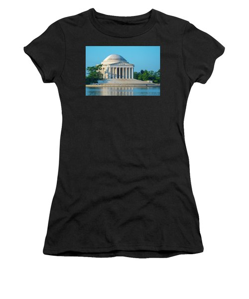 Tranquility At The Jefferson Memorial Women's T-Shirt