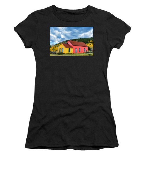 Women's T-Shirt featuring the photograph Tre Colore by Bitter Buffalo Photography