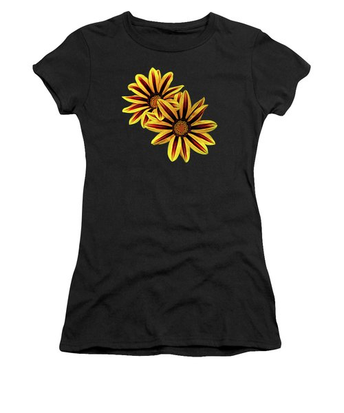 Treasure Flowers Painted Women's T-Shirt (Athletic Fit)