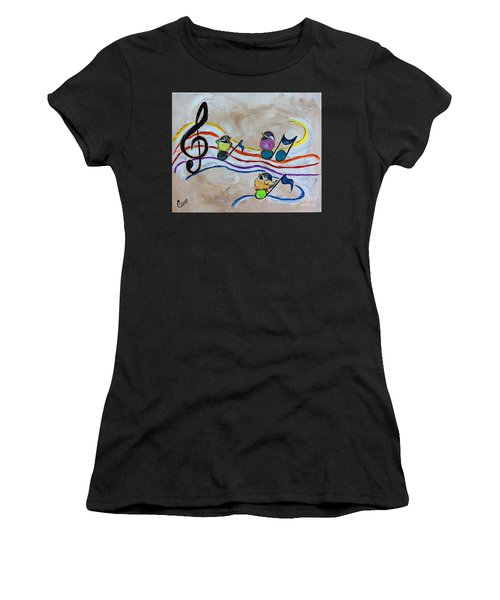 Treble Clef Trio Women's T-Shirt (Athletic Fit)