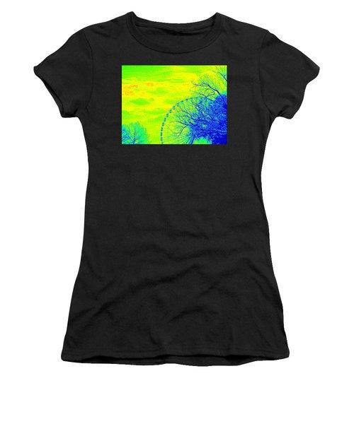 Tree And Ferris Wheel  Women's T-Shirt