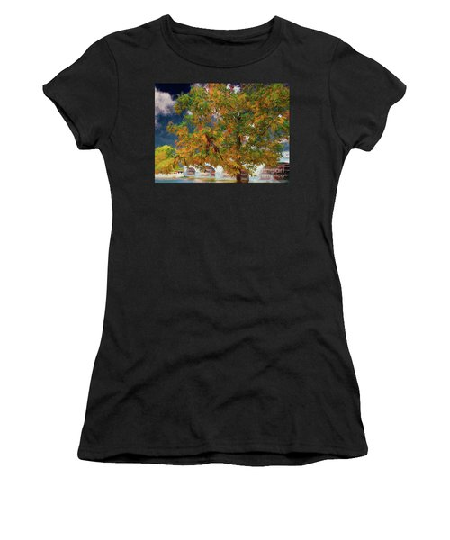 Tree By The Bridge Women's T-Shirt (Athletic Fit)