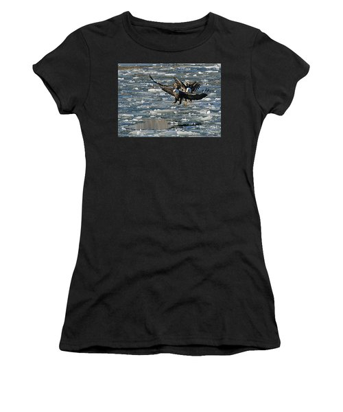 Tree Eagles On Ice Women's T-Shirt (Athletic Fit)