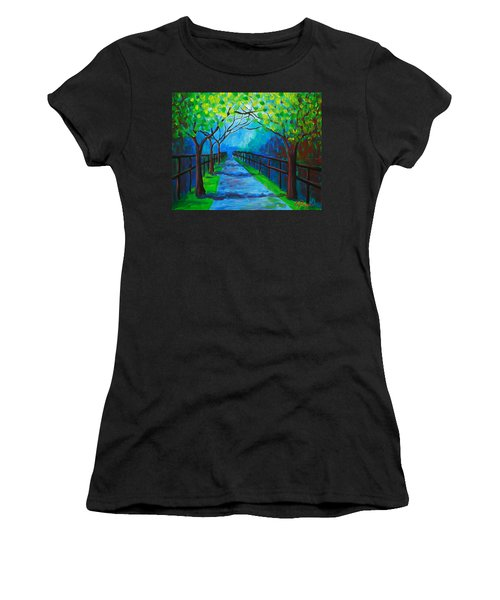 Tree Lined Fence Women's T-Shirt