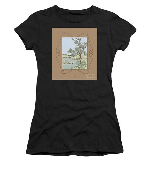 Tree Mirror In Lake Women's T-Shirt
