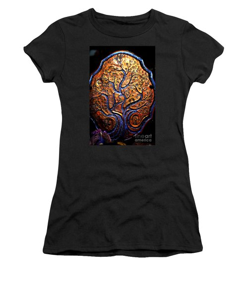 Women's T-Shirt (Junior Cut) featuring the ceramic art Tree Of Life by Susanne Still