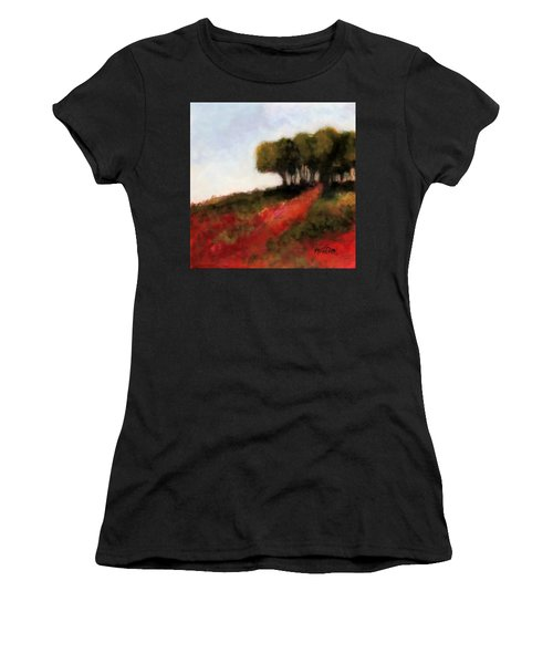 Trees On The Hill Women's T-Shirt (Athletic Fit)