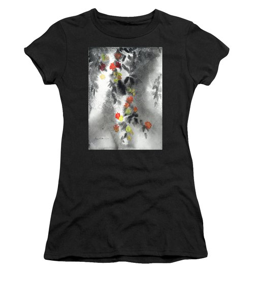 Tree Shadows And Fall Leaves Women's T-Shirt