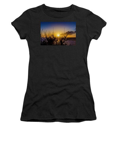 Tree Sunset Women's T-Shirt (Athletic Fit)