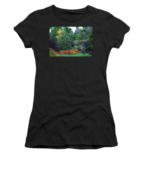 Trees And Flowers Women's T-Shirt (Athletic Fit)
