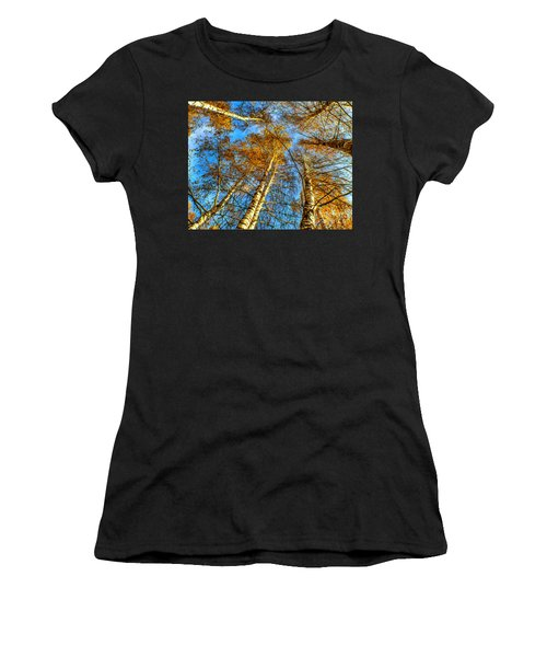 Trees Grow To The Sky Paint Women's T-Shirt