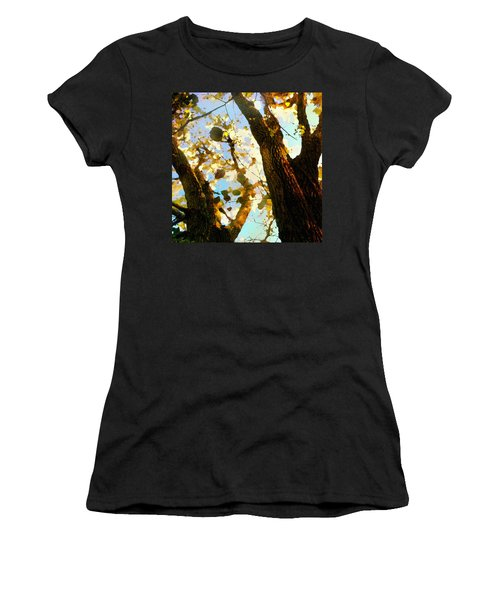 Treetop Abstract-look Up A Tree Women's T-Shirt