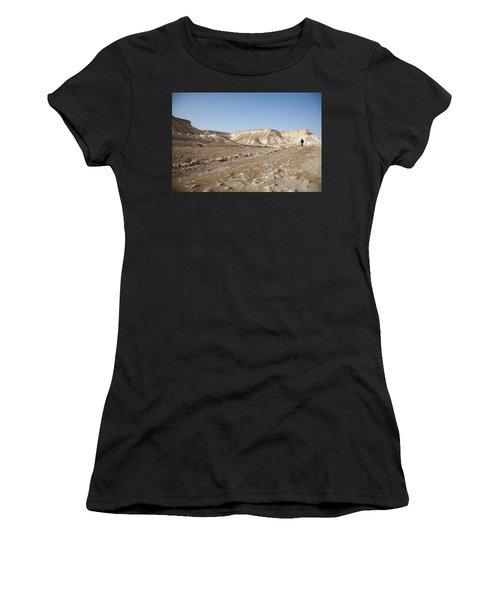 Trekker Alone On The Wild Way Women's T-Shirt (Athletic Fit)