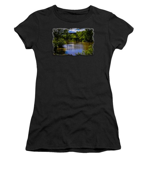 Trestle Over River Women's T-Shirt (Athletic Fit)