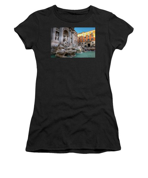 Trevi Fountain Women's T-Shirt (Junior Cut) by Fink Andreas