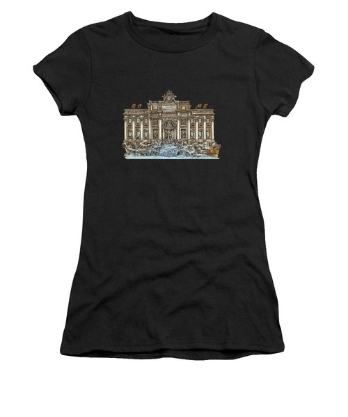 Trevi Fountain,rome  Women's T-Shirt (Athletic Fit)