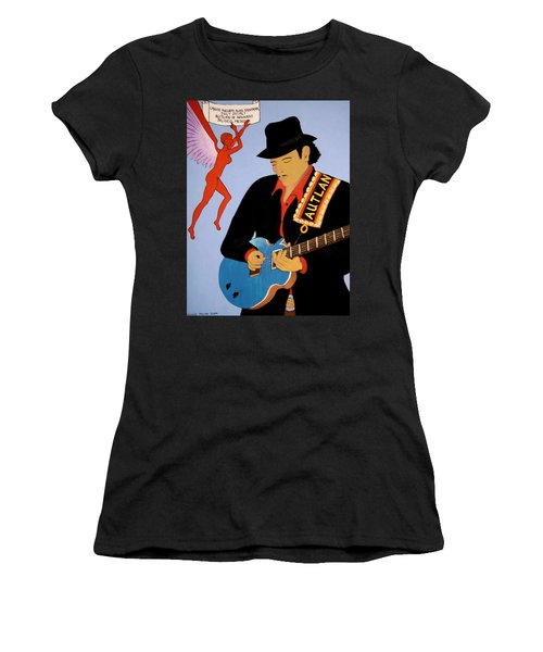 Women's T-Shirt (Junior Cut) featuring the painting Tribute To Carlos by Stephanie Moore