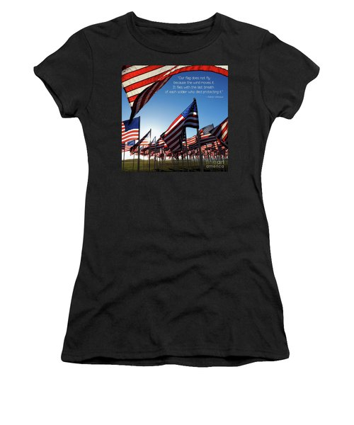 Women's T-Shirt (Athletic Fit) featuring the photograph Thank You by Peggy Hughes