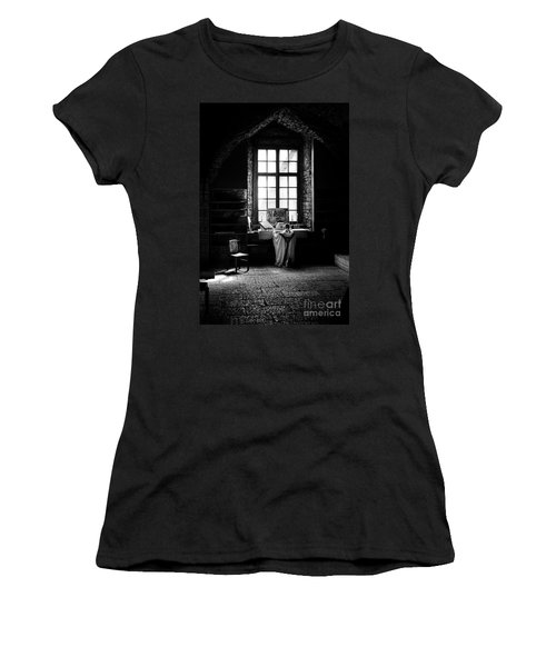 Tridentine Mass In An Ancient Chapel In The Old Dominican Monastery In Tallinn Women's T-Shirt (Athletic Fit)
