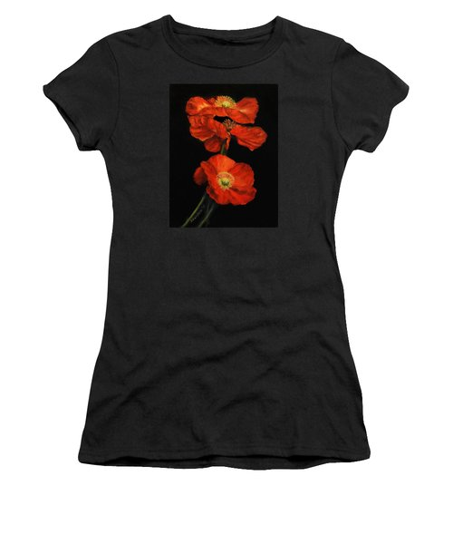Poppy Trio Women's T-Shirt (Athletic Fit)