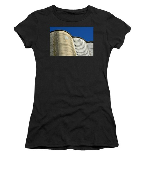 Triple Silo With Star Women's T-Shirt (Athletic Fit)