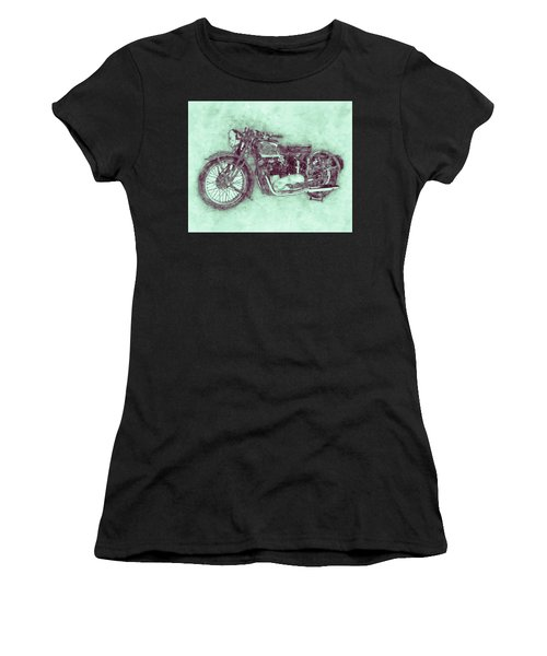 Triumph Speed Twin 3 - 1937 - Vintage Motorcycle Poster - Automotive Art Women's T-Shirt