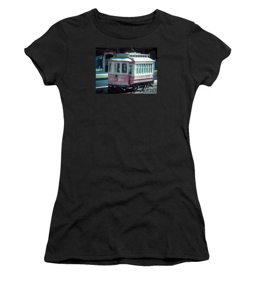Women's T-Shirt (Junior Cut) featuring the photograph The Trolley by Melissa Messick