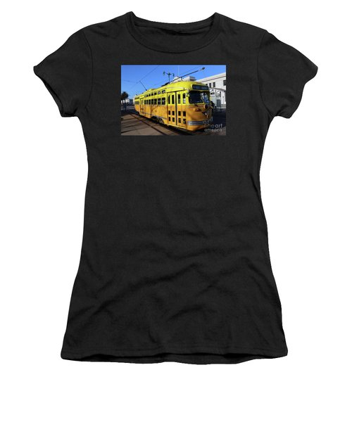 Women's T-Shirt (Junior Cut) featuring the photograph Trolley Number 1052 by Steven Spak