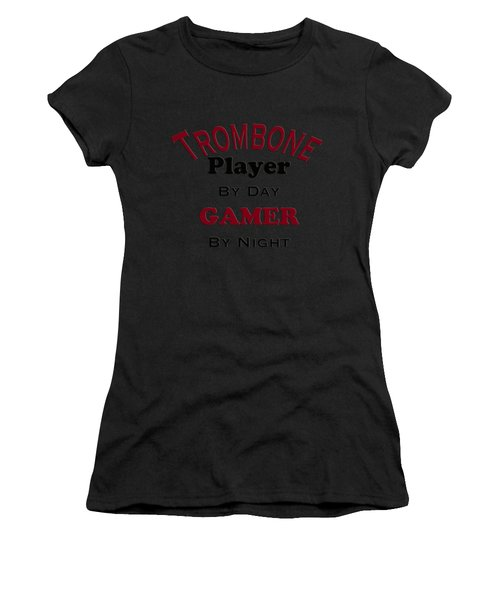 Trombone Player By Day Gamer By Night 5626.02 Women's T-Shirt (Athletic Fit)