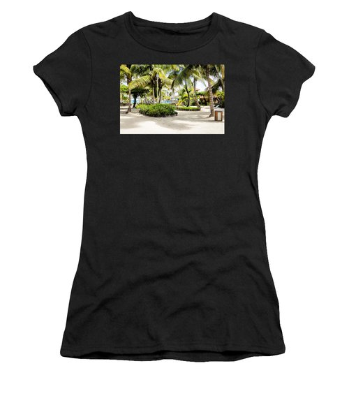 Tropical Courtyard Women's T-Shirt (Athletic Fit)